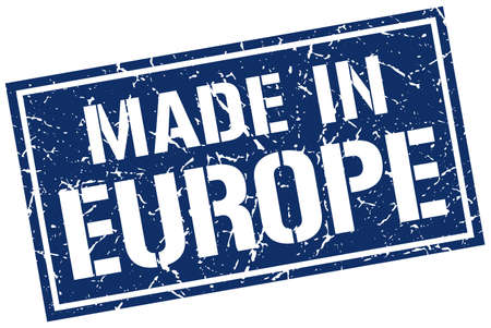 europe: made in europe stamp Illustration