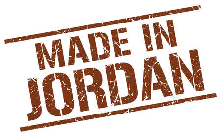 jordan: made in Jordan stamp Illustration