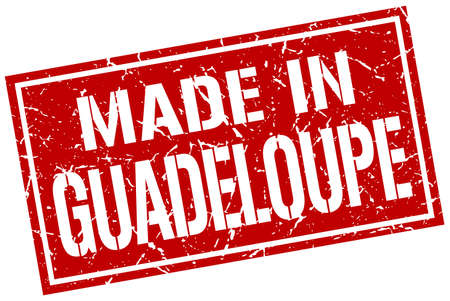 guadeloupe: made in Guadeloupe stamp
