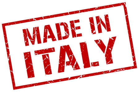produced: made in Italy stamp