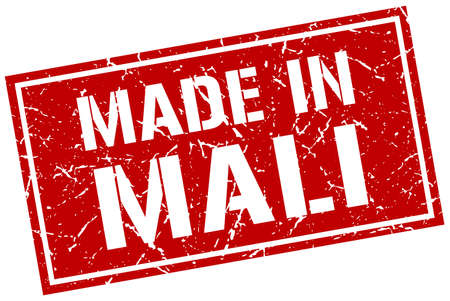 produced: made in Mali stamp Illustration