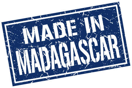 produced: made in Madagascar stamp
