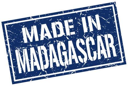 madagascar: made in Madagascar stamp