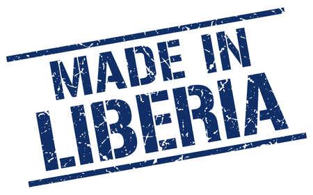 liberia: made in Liberia stamp