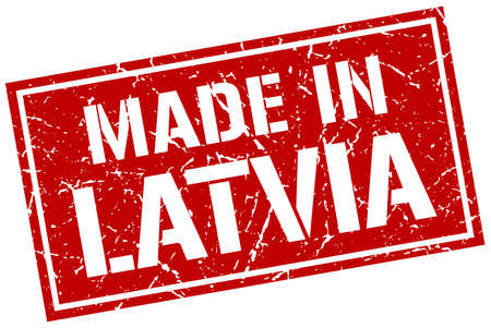 latvia: made in Latvia stamp Illustration