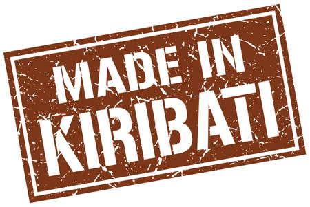 kiribati: made in Kiribati stamp Illustration