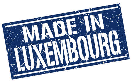 produced: made in Luxembourg stamp