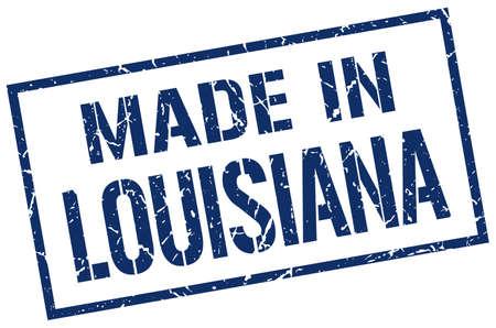 louisiana: made in Louisiana stamp Illustration
