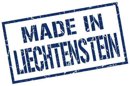 liechtenstein: made in Liechtenstein stamp