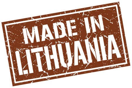 lithuania: made in Lithuania stamp Illustration