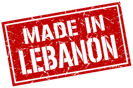produced: made in Lebanon stamp Illustration
