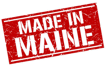 maine: made in Maine stamp