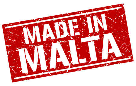 produced: made in Malta stamp Illustration