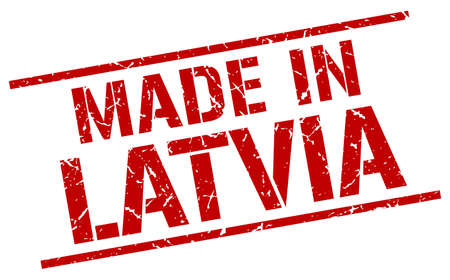 produced: made in Latvia stamp Illustration