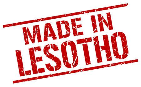 lesotho: made in Lesotho stamp Illustration