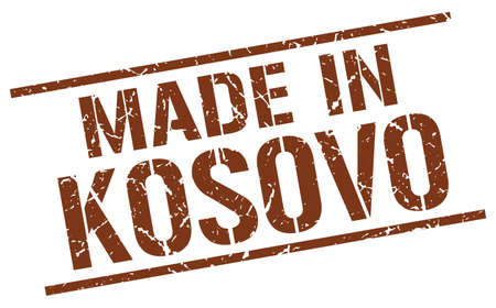 produced: made in Kosovo stamp Illustration