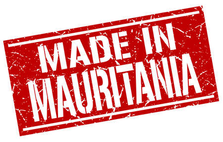 produced: made in Mauritania stamp