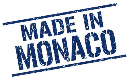 produced: made in Monaco stamp