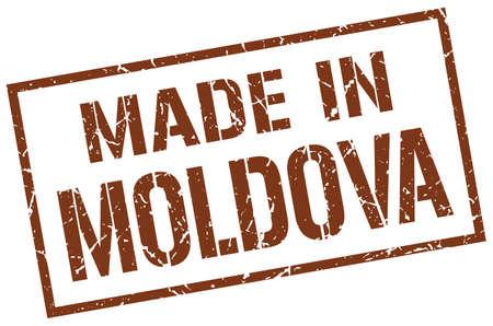 moldova: made in Moldova stamp