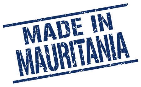 mauritania: made in Mauritania stamp