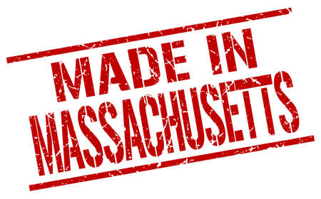 produced: made in Massachusetts stamp Illustration