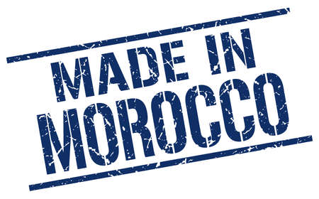 produced: made in Morocco stamp Illustration