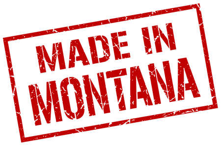 produced: made in Montana stamp Illustration