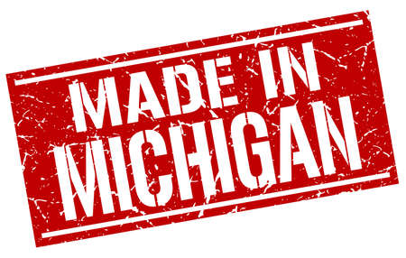 michigan: made in Michigan stamp