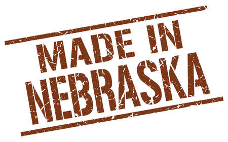 nebraska: made in Nebraska stamp