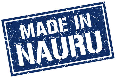 nauru: made in Nauru stamp Illustration