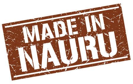 nauru: made in Nauru stamp Illustration
