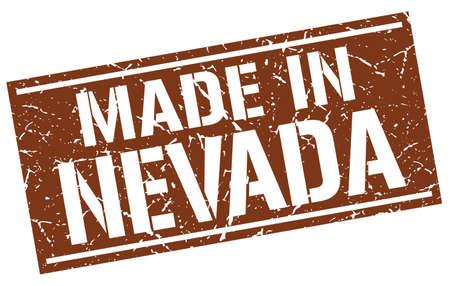 nevada: made in Nevada stamp Illustration