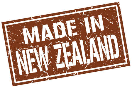 zealand: made in New Zealand stamp Illustration