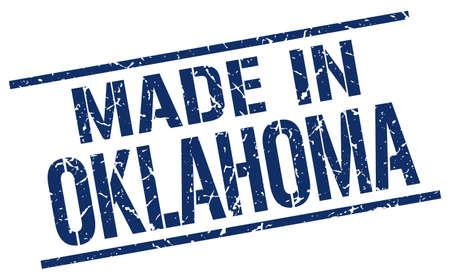 oklahoma: made in Oklahoma stamp