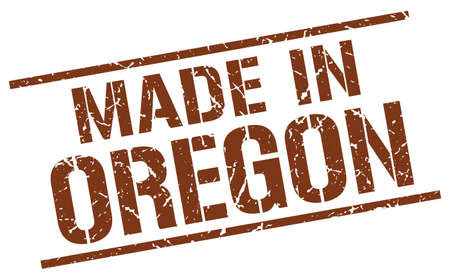 oregon: made in Oregon stamp