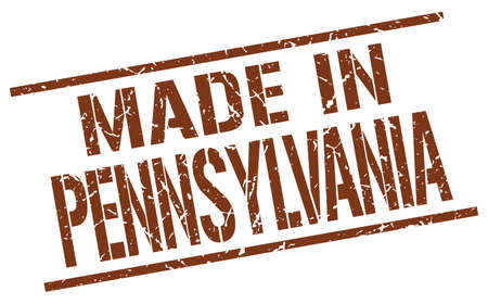 pennsylvania: made in Pennsylvania stamp