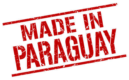 paraguay: made in Paraguay stamp Illustration