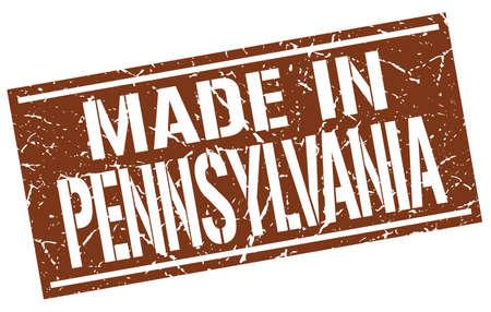 pennsylvania: made in Pennsylvania stamp