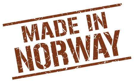 norway: made in Norway stamp