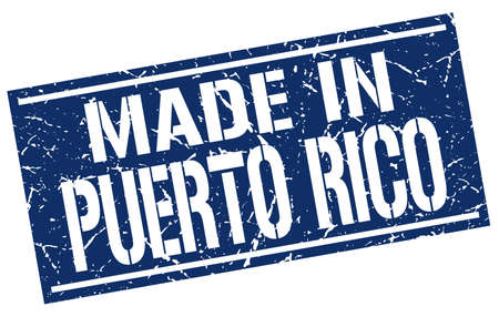 puerto rico: made in Puerto Rico stamp Illustration