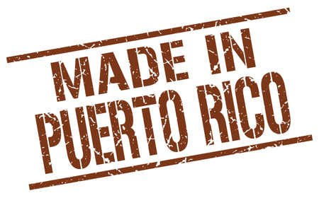 puerto: made in Puerto Rico stamp Illustration