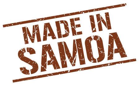 samoa: made in Samoa stamp Illustration