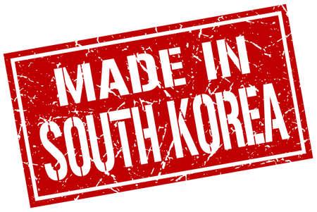 south korea: made in South Korea stamp Illustration