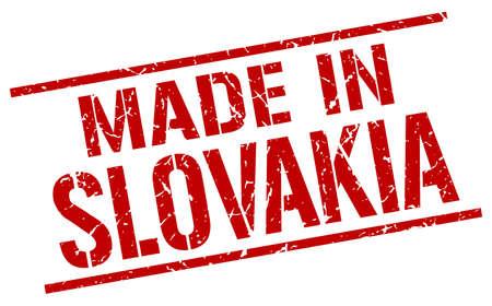 slovakia: made in Slovakia stamp