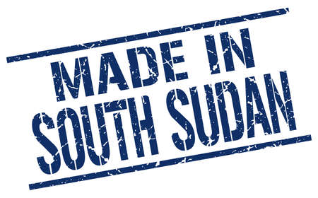 Sudan: made in South Sudan stamp Illustration