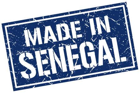 senegal: made in Senegal stamp