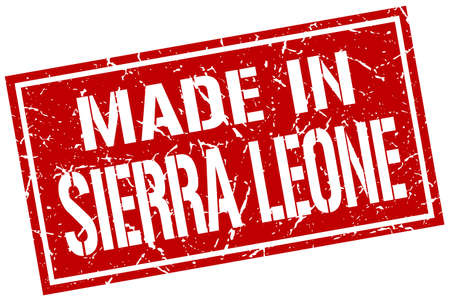 sierra leone: made in Sierra Leone stamp