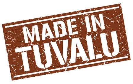 tuvalu: made in Tuvalu stamp