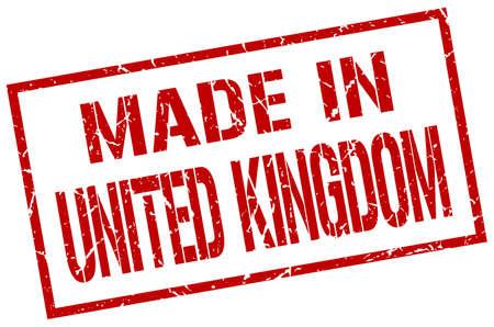 kingdom: made in United Kingdom stamp Illustration