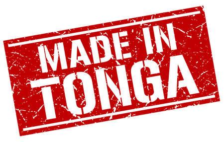 tonga: made in Tonga stamp